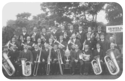 Springs Band at Brightin in 1909.